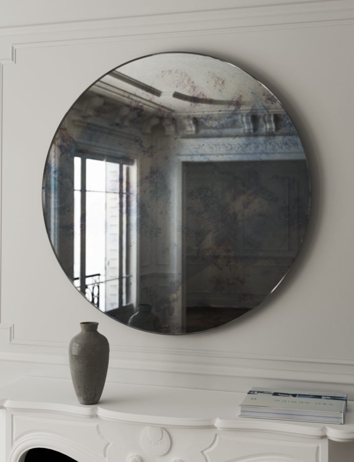 5 Favorite Frameless Antiqued Mirrors