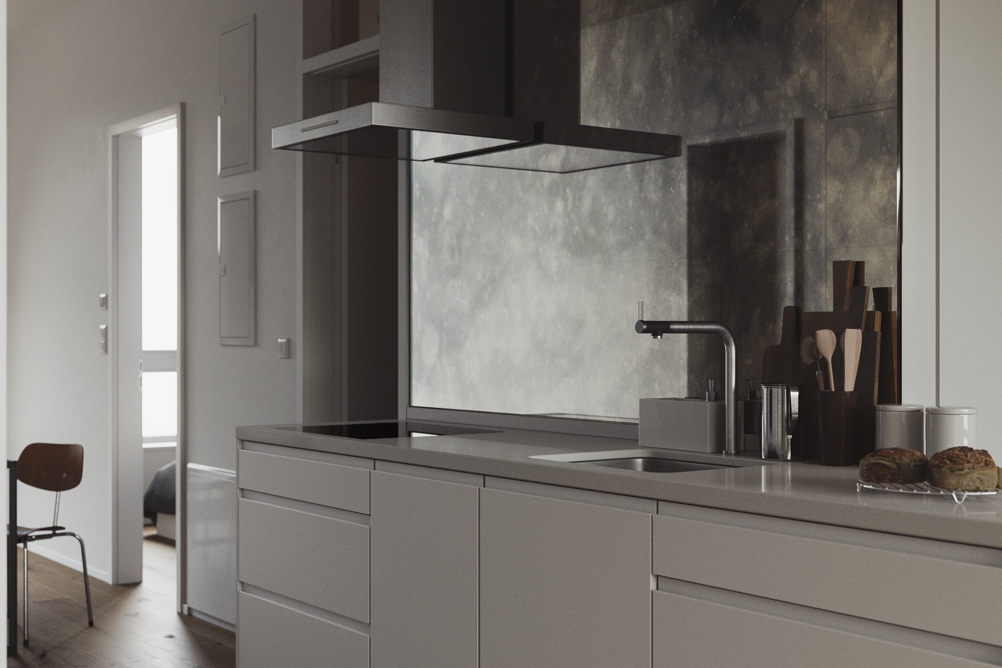 Thinking about an antiqued mirror backsplash - here are ...