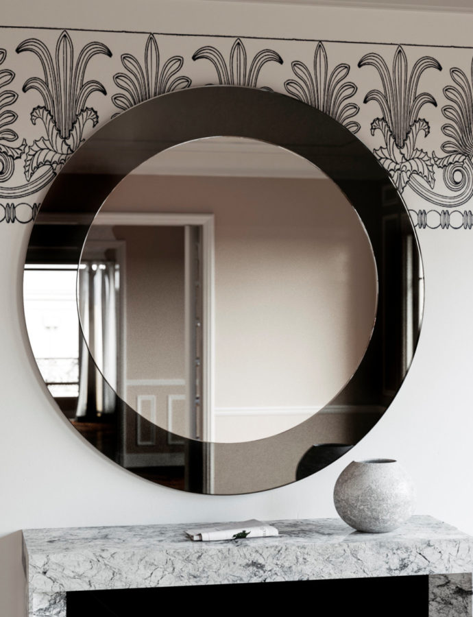 Black Deco Mirror