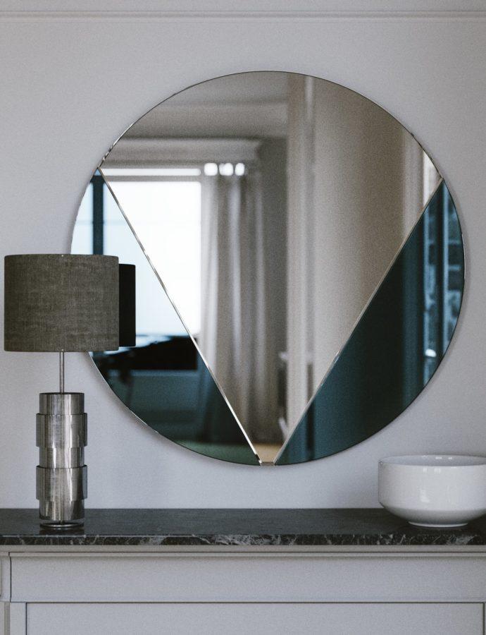 Art Deco Blue Mirror