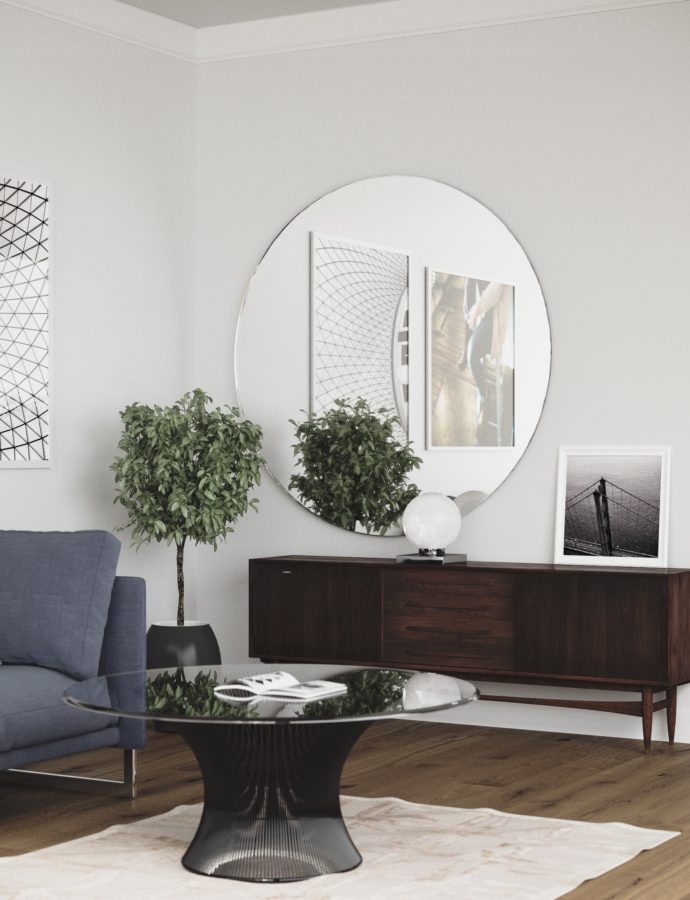 Large Round Wall Mirrors