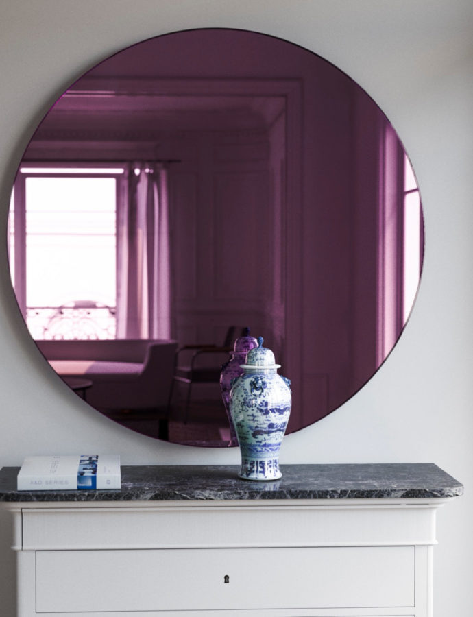 Pink Glass Mirror