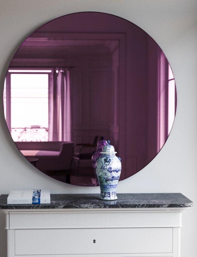 Pink Glass Mirror