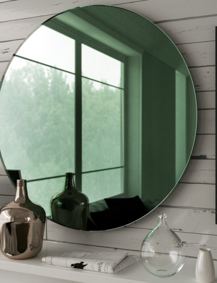 Green Glass Mirror