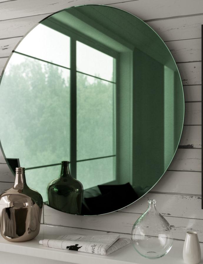 Green Glass Mirror