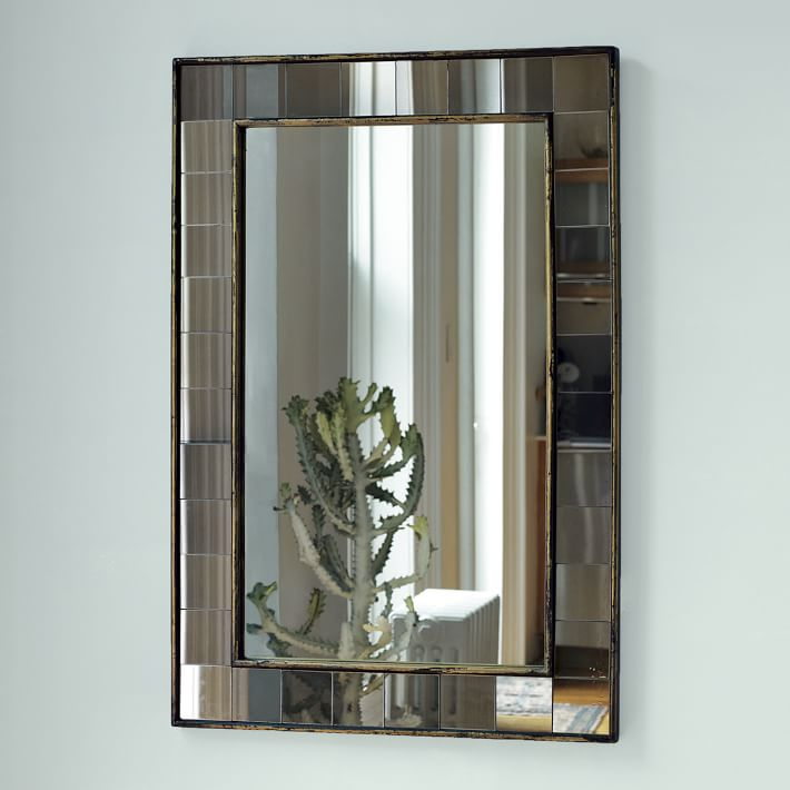 West Elm Smoked Wall Mirror