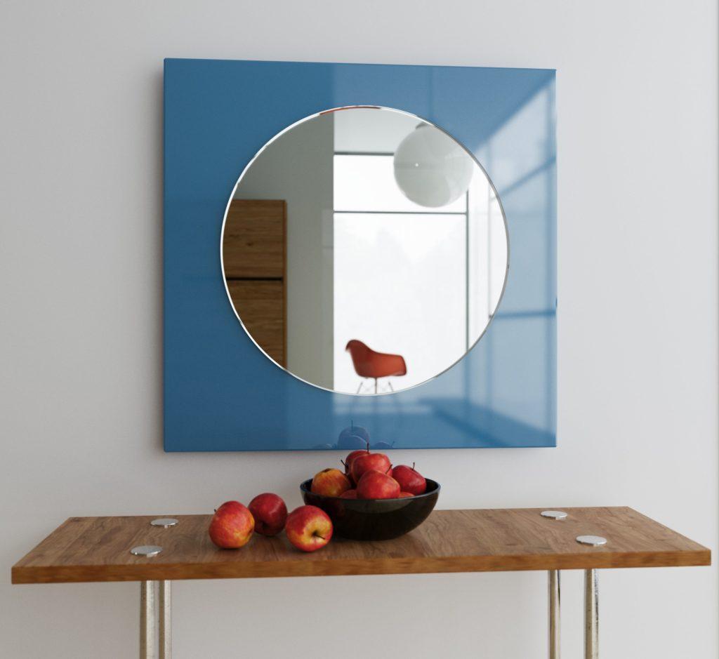 Blue MidCentury Mirror