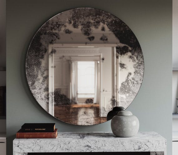 Handmade Antiqued Frameless Wall Mirrors